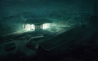 The Temple — Lovecraftian Concept Art by Mihail Bila