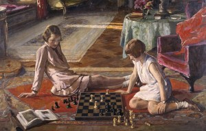 John Lavery, «The Chess Players»