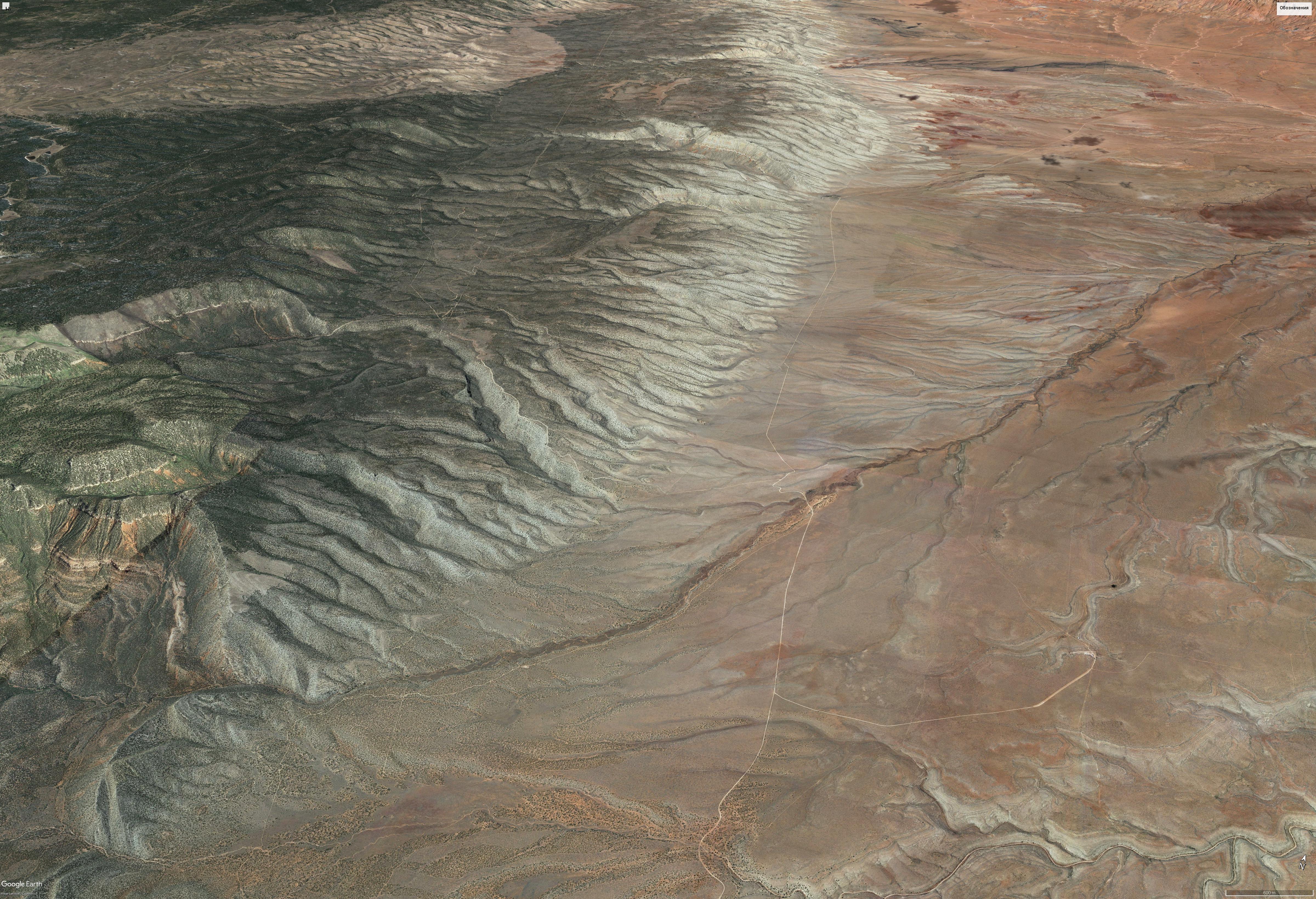 Гранд-Каньон (край долины, русла)