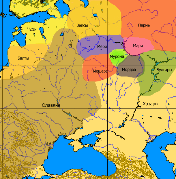 Finno-ugrian-map