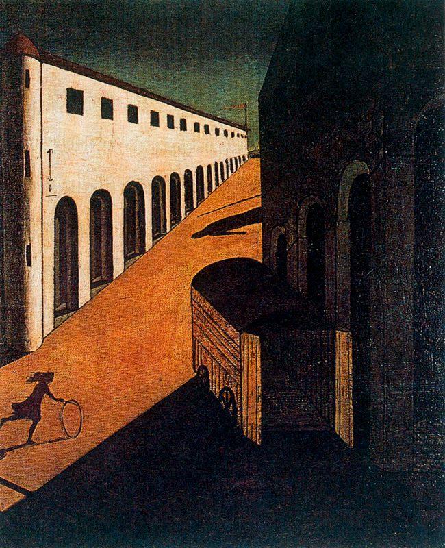Картинки по запросу де кирико меланхолия и тайна улицы