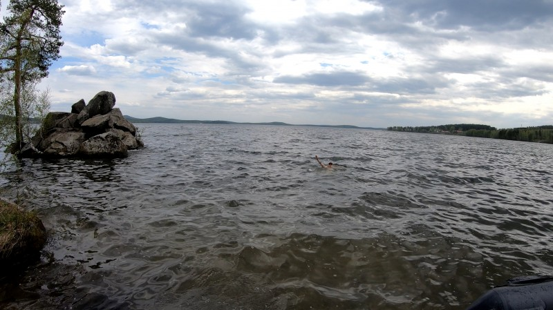 Таватуй, май, плавание.