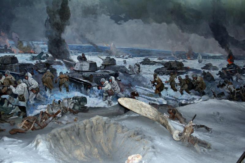 Фрагмент панорамы в волгоградском музее