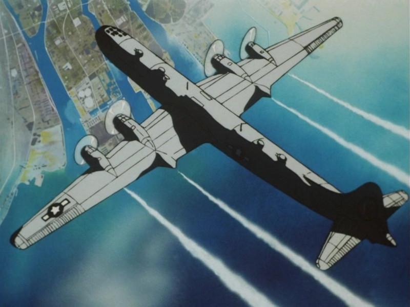 Американский бомбардировщик над Хиросимой