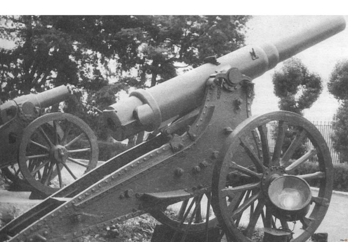 6-дюймовая пушка образца 1877 года.
