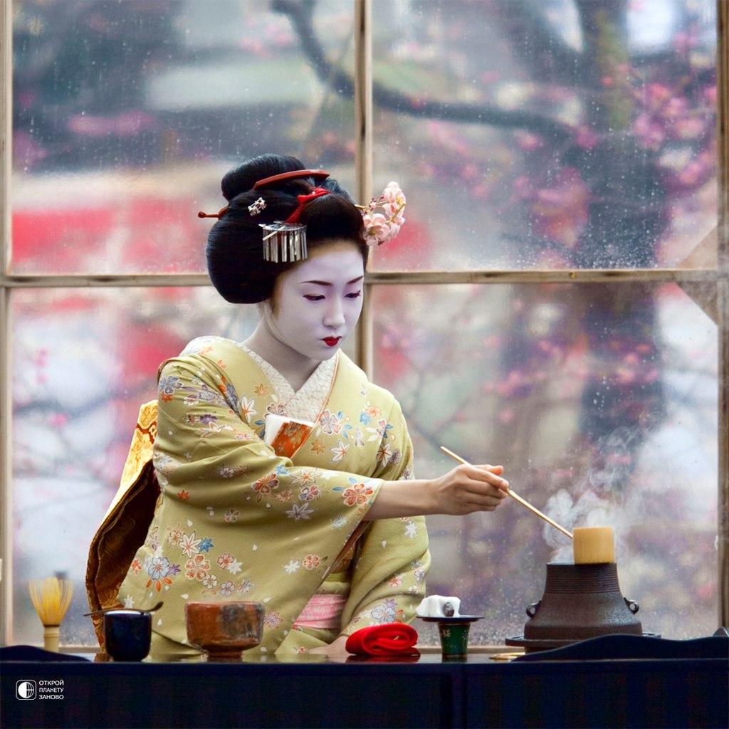 С японкой на кухне 14 фотография