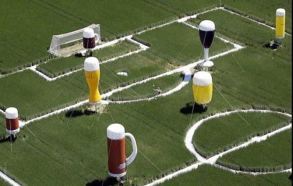 Реклама пива стадион