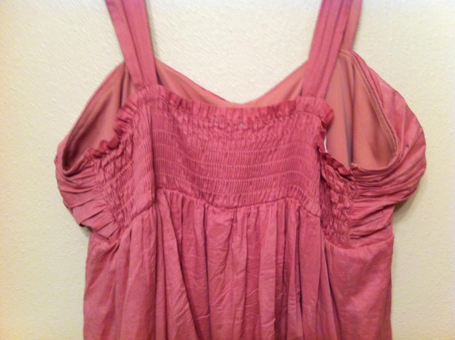 back of rose dress