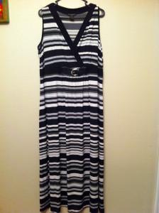 maxi black white dress