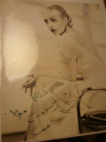 carole lombard autograph 72a