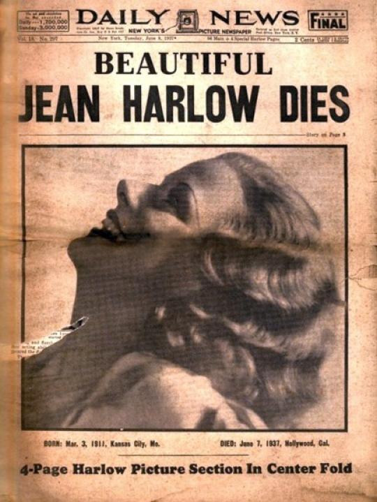 jean harlow death ny daily news 00a