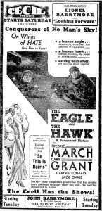 carole lombard the eagle and the hawk ad 061833 mason city globe-gazette