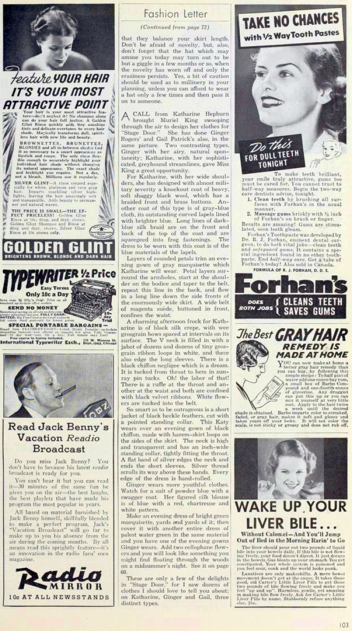 carole lombard photoplay oct 1937ba fashion