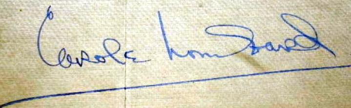 carole lombard autograph 73b