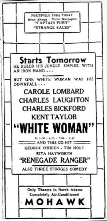carole lombard white woman ad 053139 north adams transcript