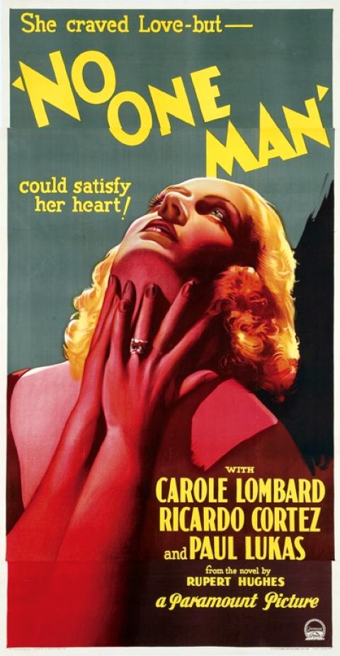 carole lombard no one man three-sheet poster 00