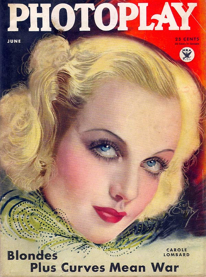 carole lombard photoplay june 1934 larger