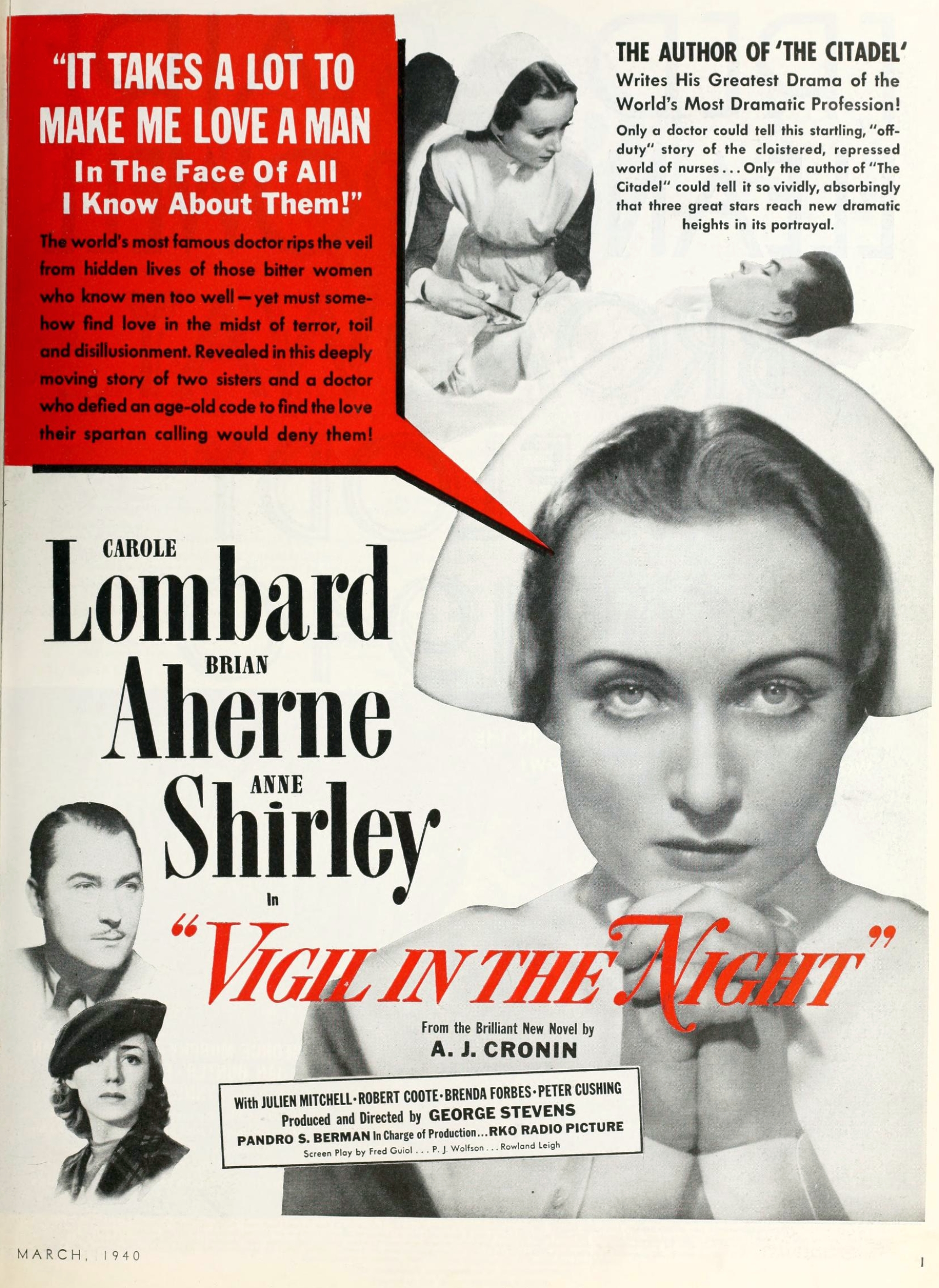 carole lombard photoplay march 1940 ad large