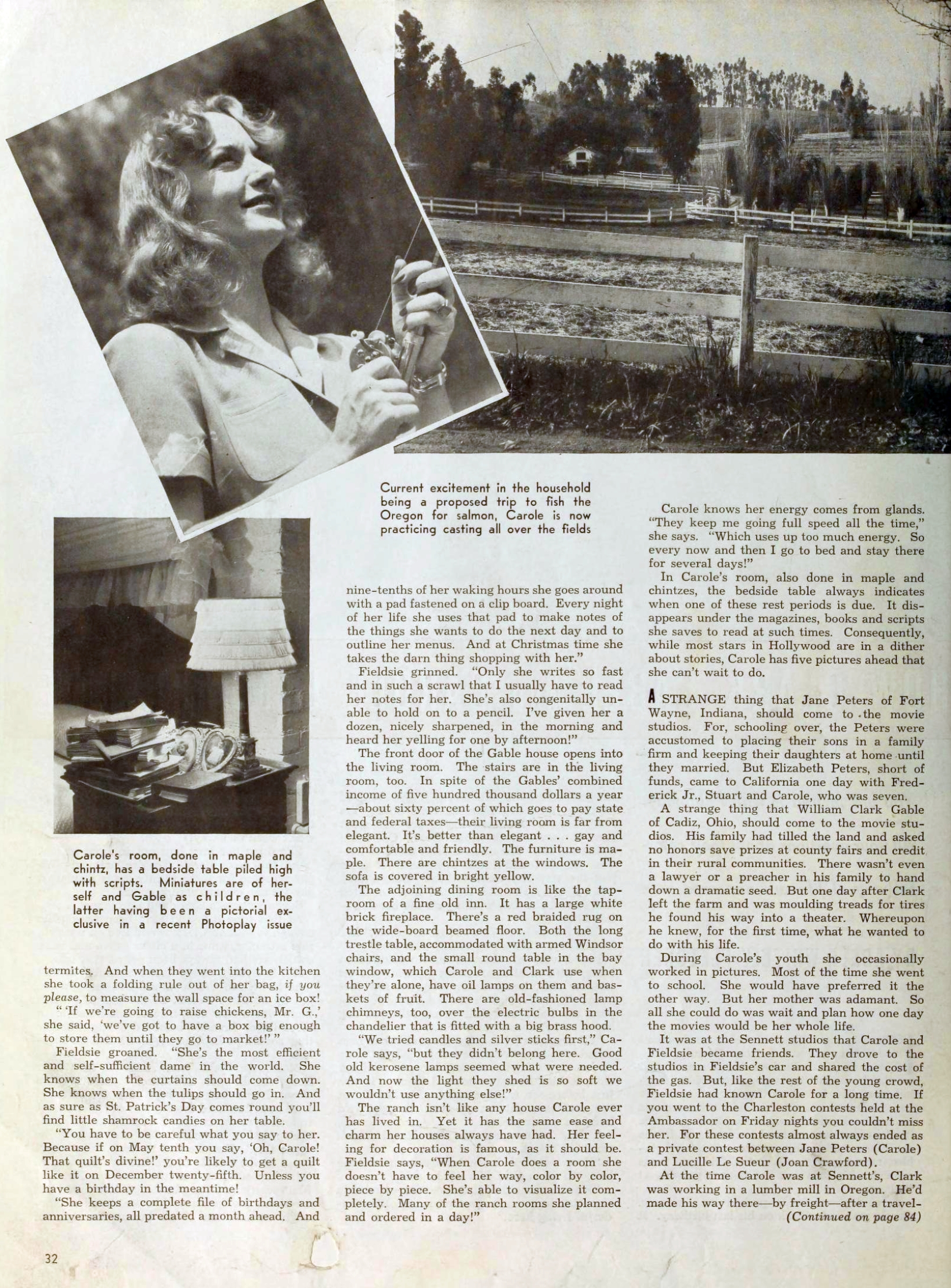 carole lombard photoplay october 1940ba