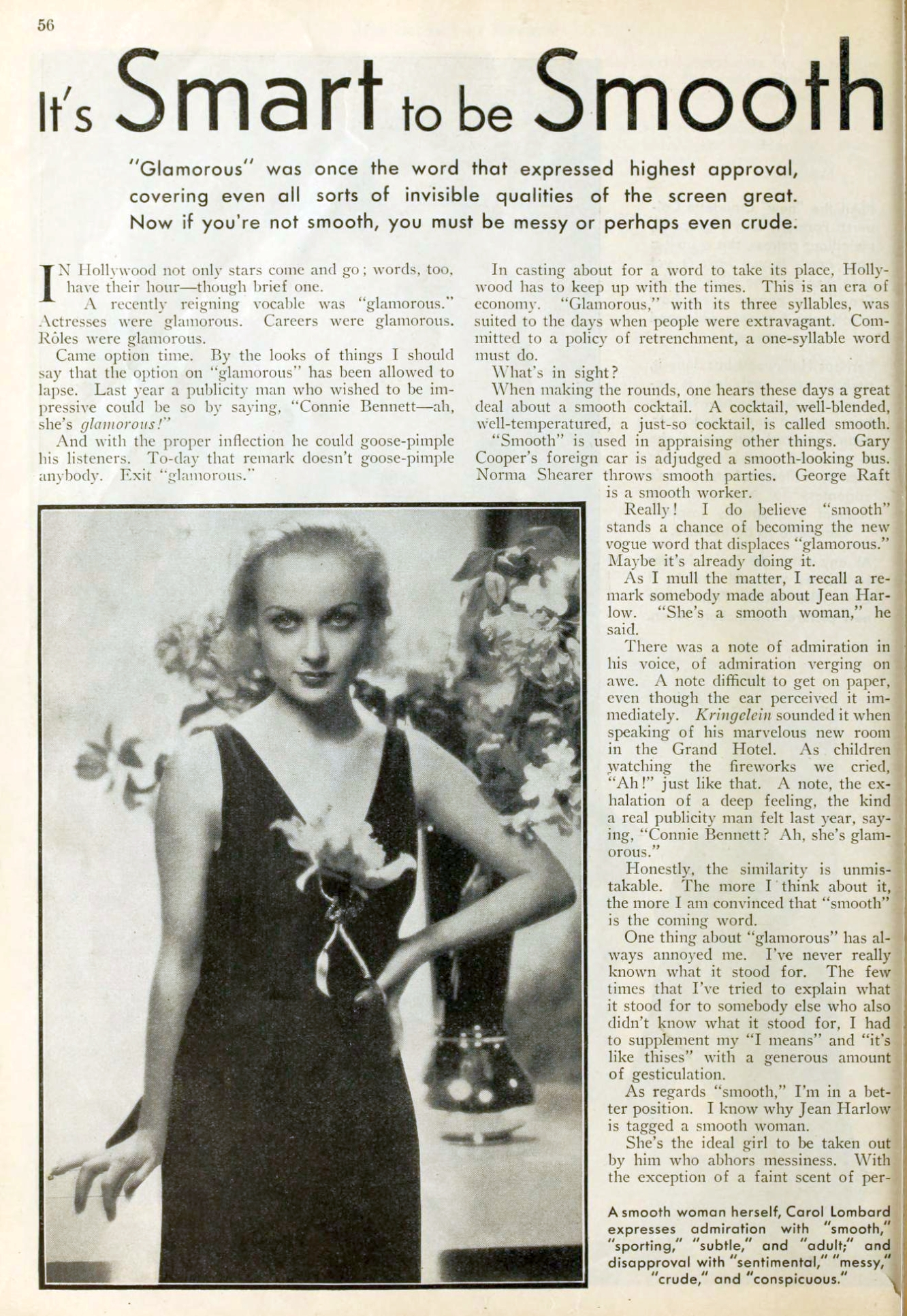 carole lombard picture play april 1933 it's smart to be smooth 00a