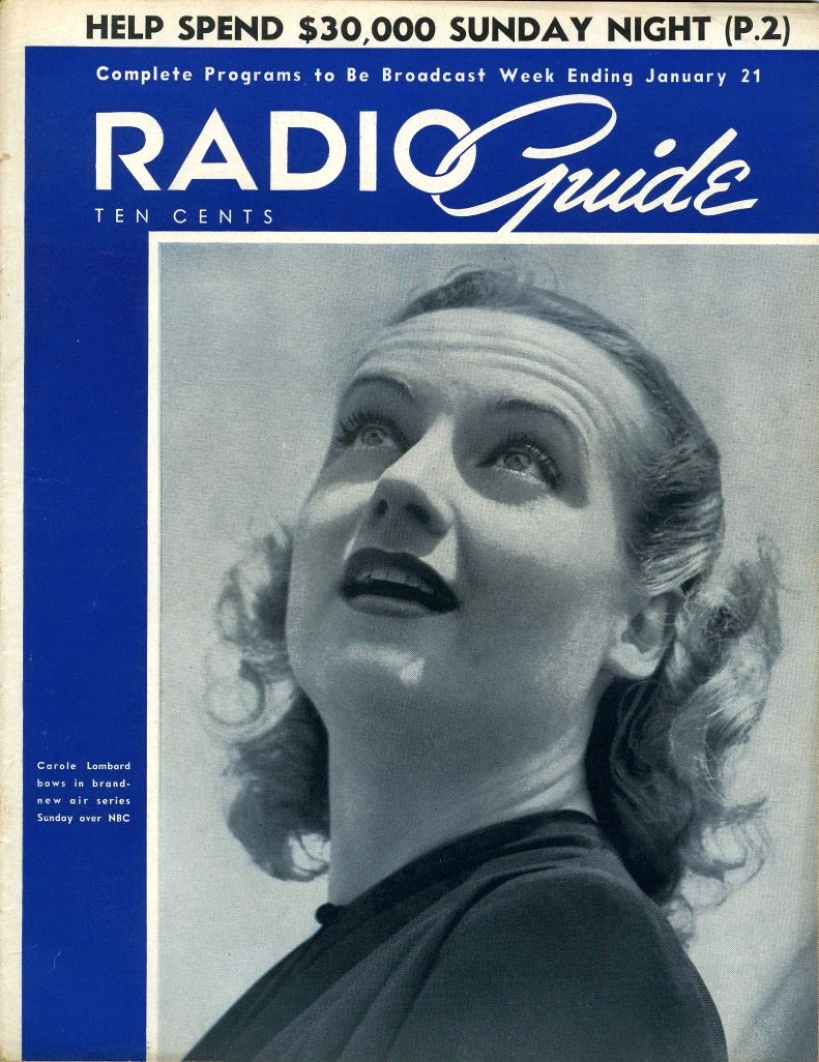 carole lombard radio guide jan 1939