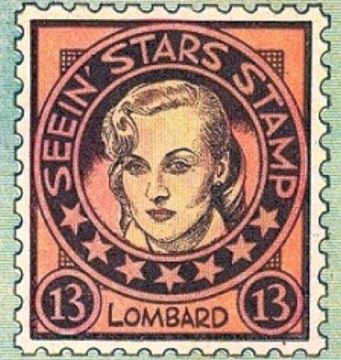 carole lombard seein' stars stamp 13a