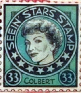 seein' stars stamps claudette colbert 00