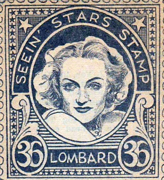 carole lombard seein' stars stamp 36a