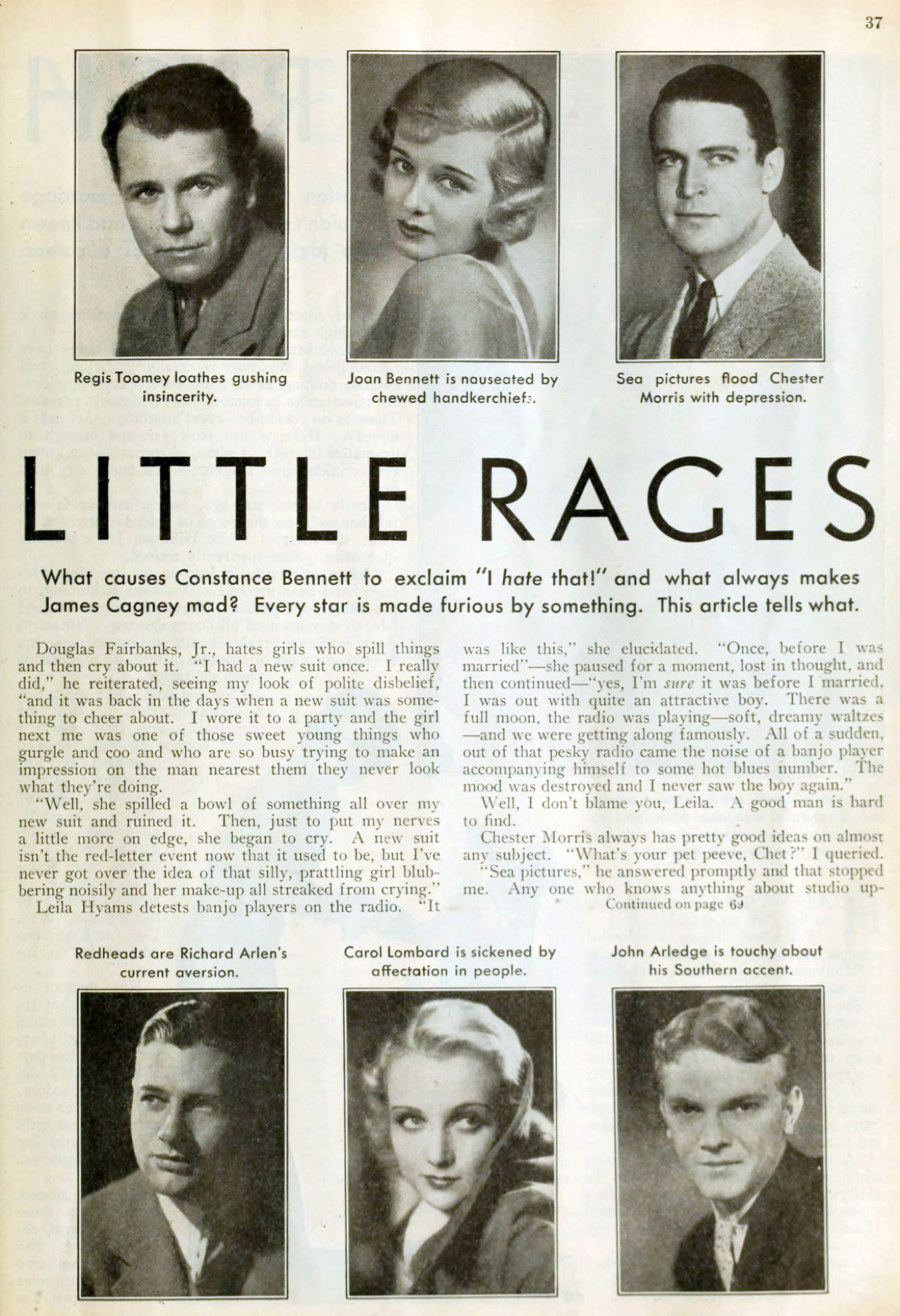 carole lombard picture play aug 1932 their little rages 01a