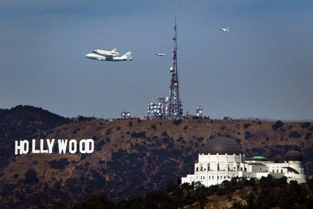 hollywood sign 092112 space shuttle 00