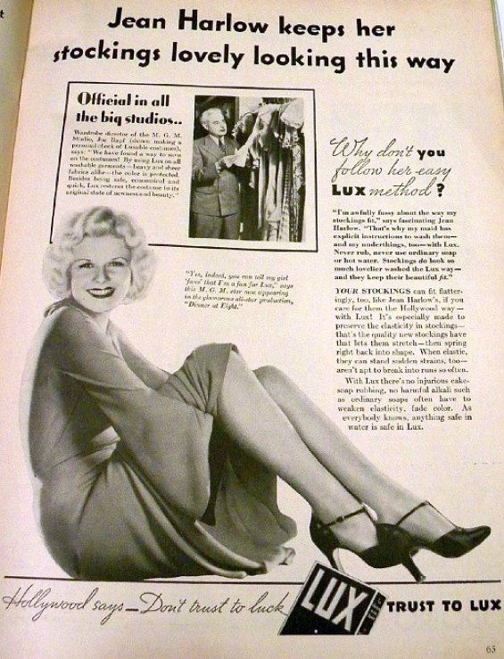 movie classic oct 1933 jean harlow lux ad large
