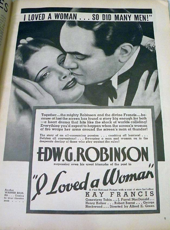 movie classic oct 1933 i loved a woman ad large