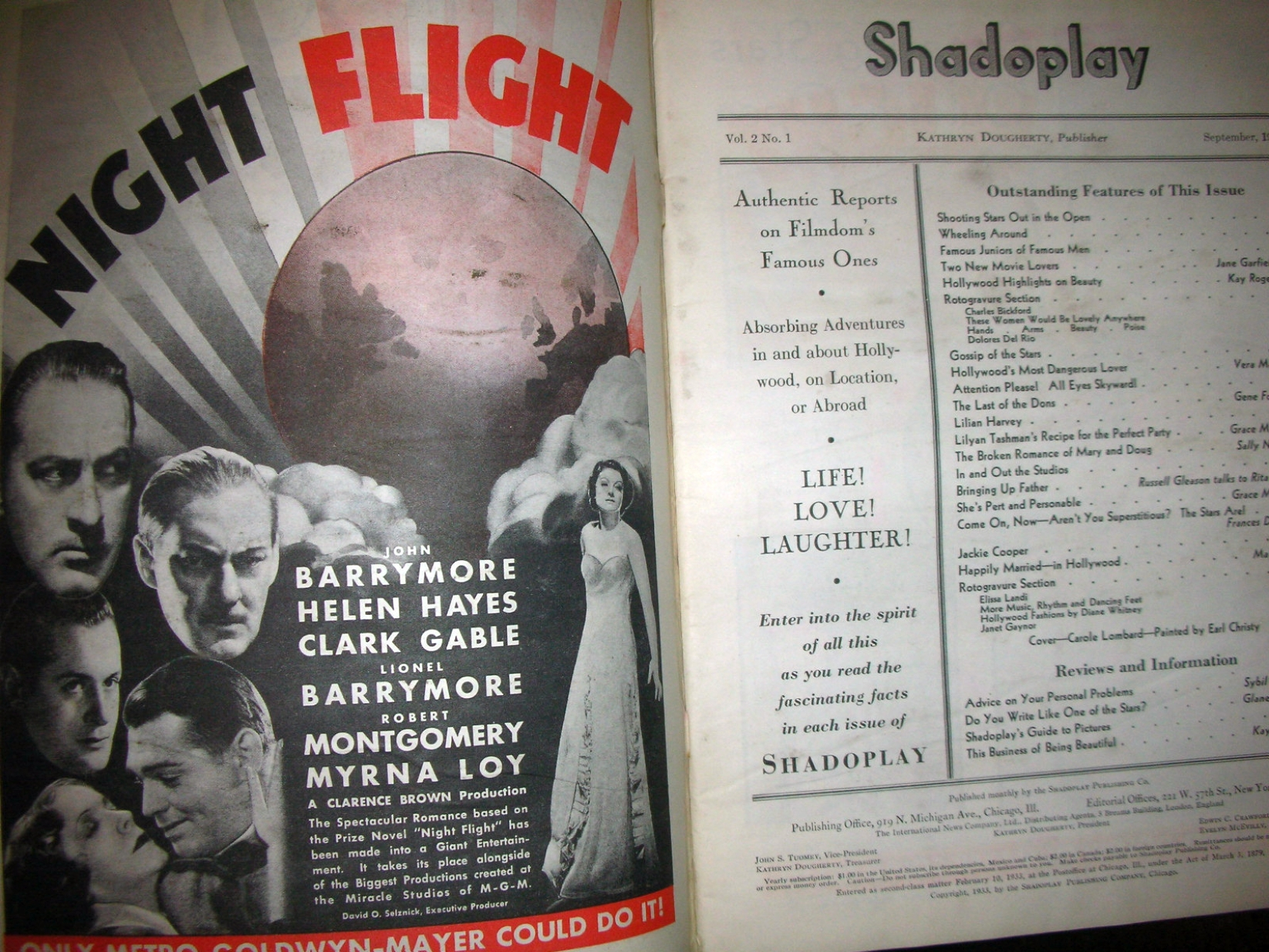 carole lombard shadoplay sept 1933 table of contents large