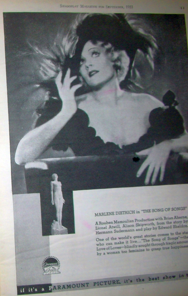 carole lombard shadoplay sept 1933 marlene dietrich ad larger