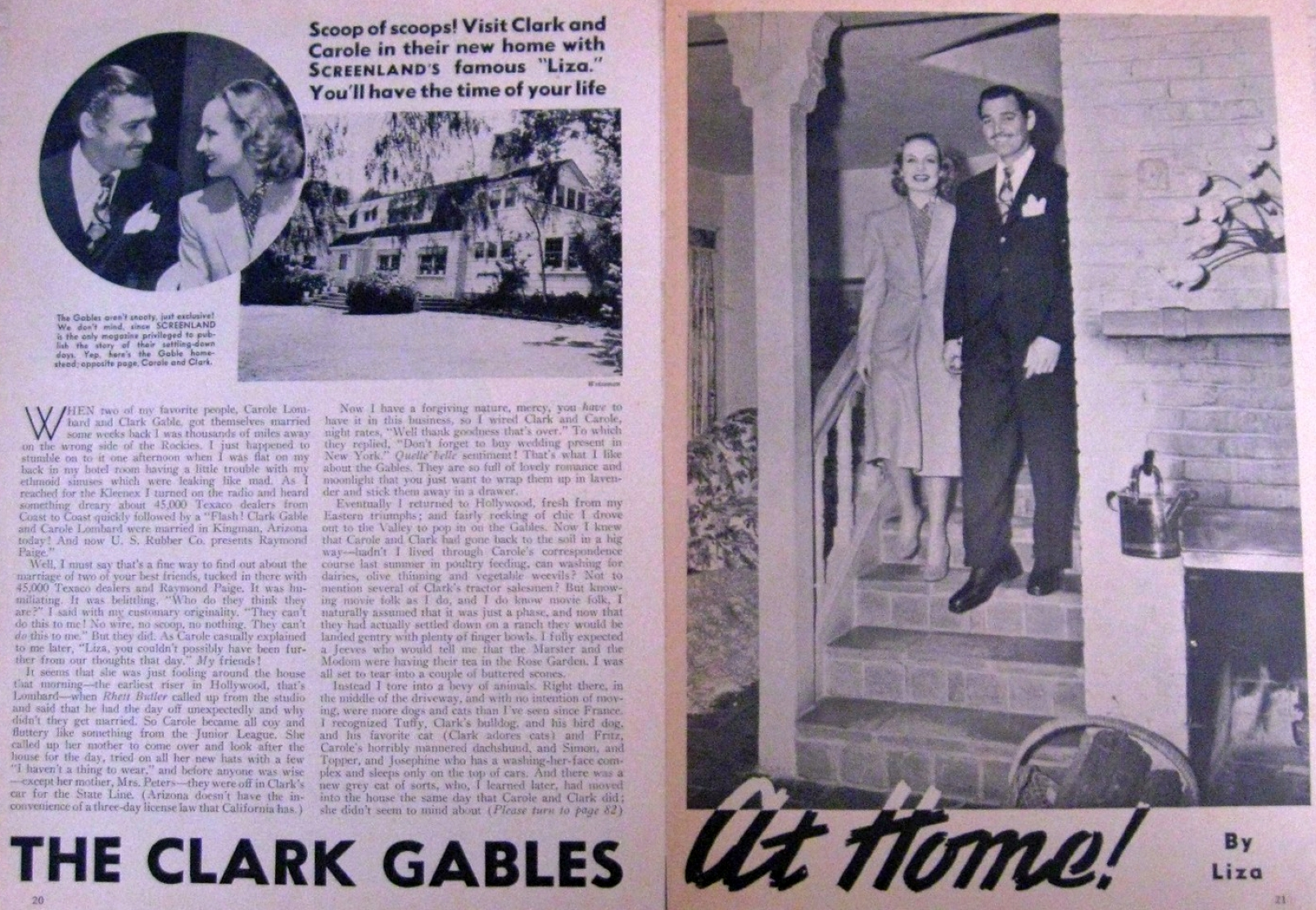 carole lombard screenland the clark gables at home large