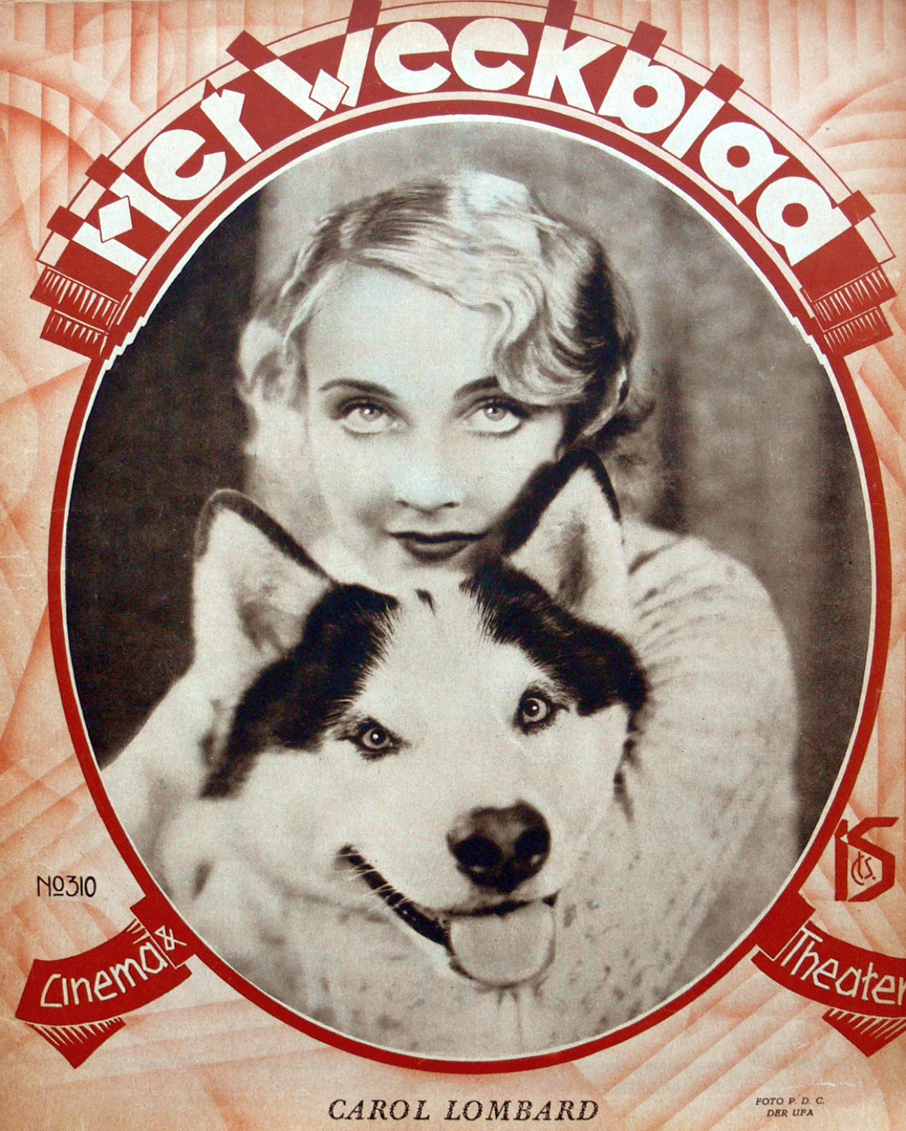 carole lombard het weekblad 1930 front large