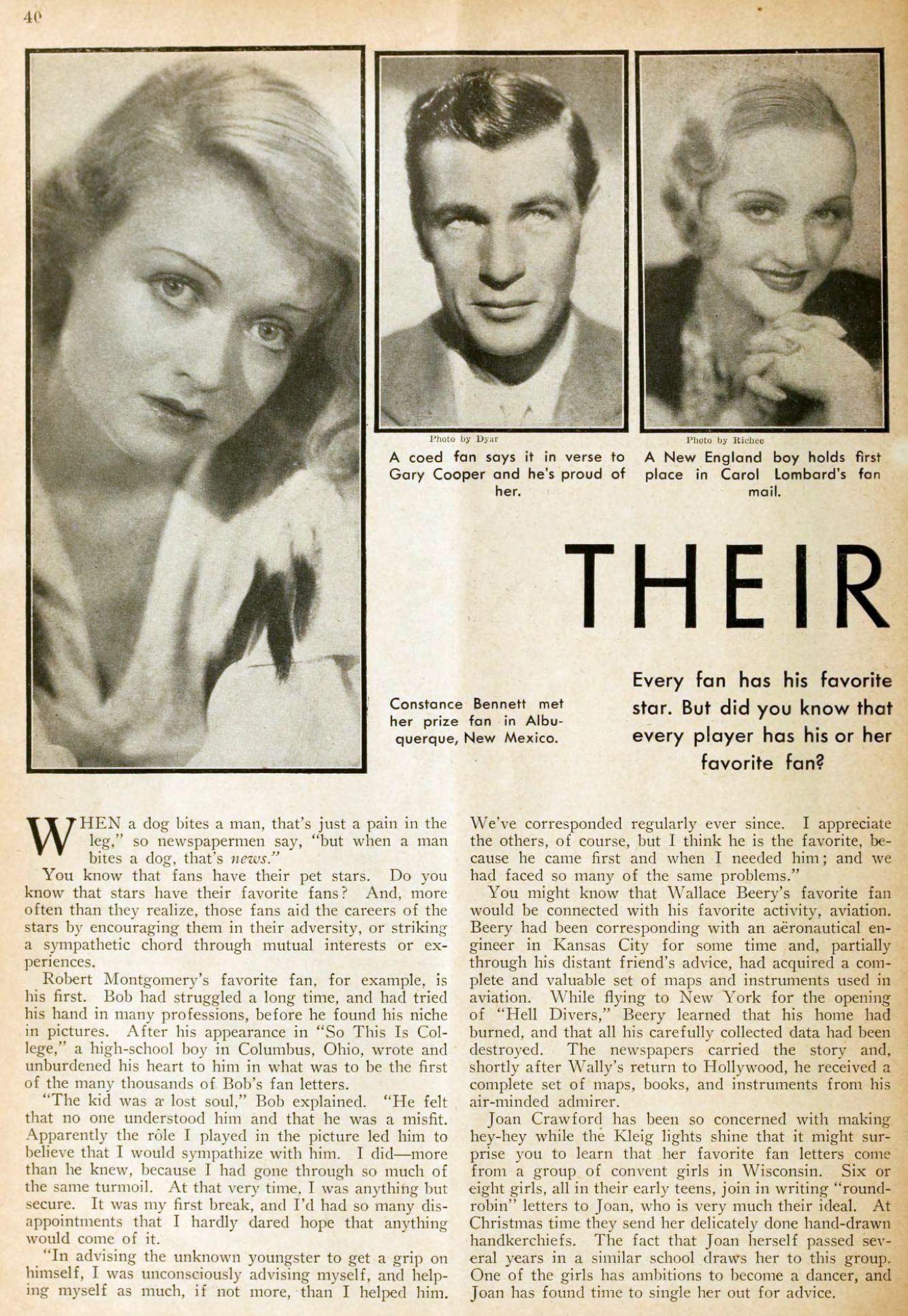 carole lombard picture play dec 1932 their pet fans 00a