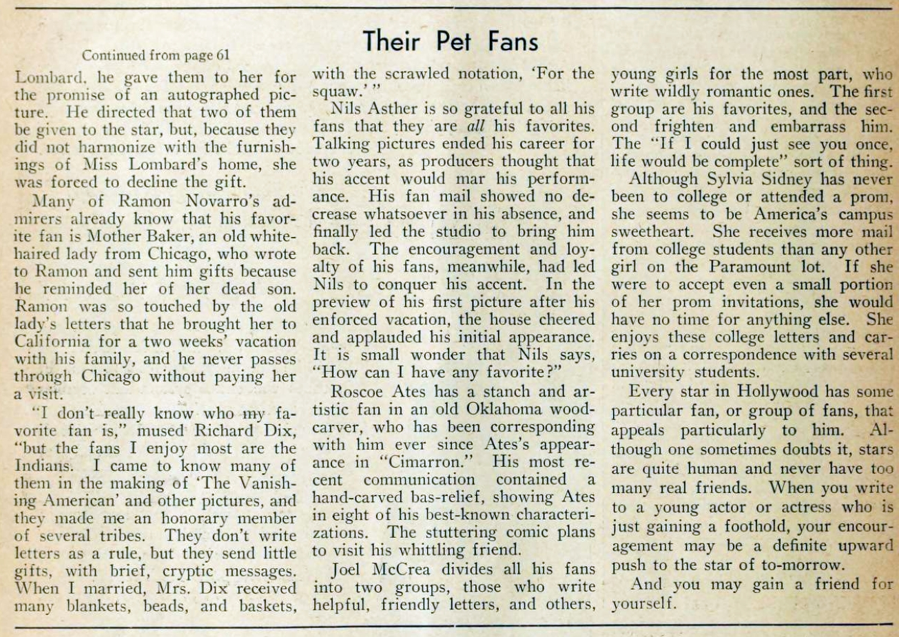 carole lombard picture play dec 1932 their pet fans 03a
