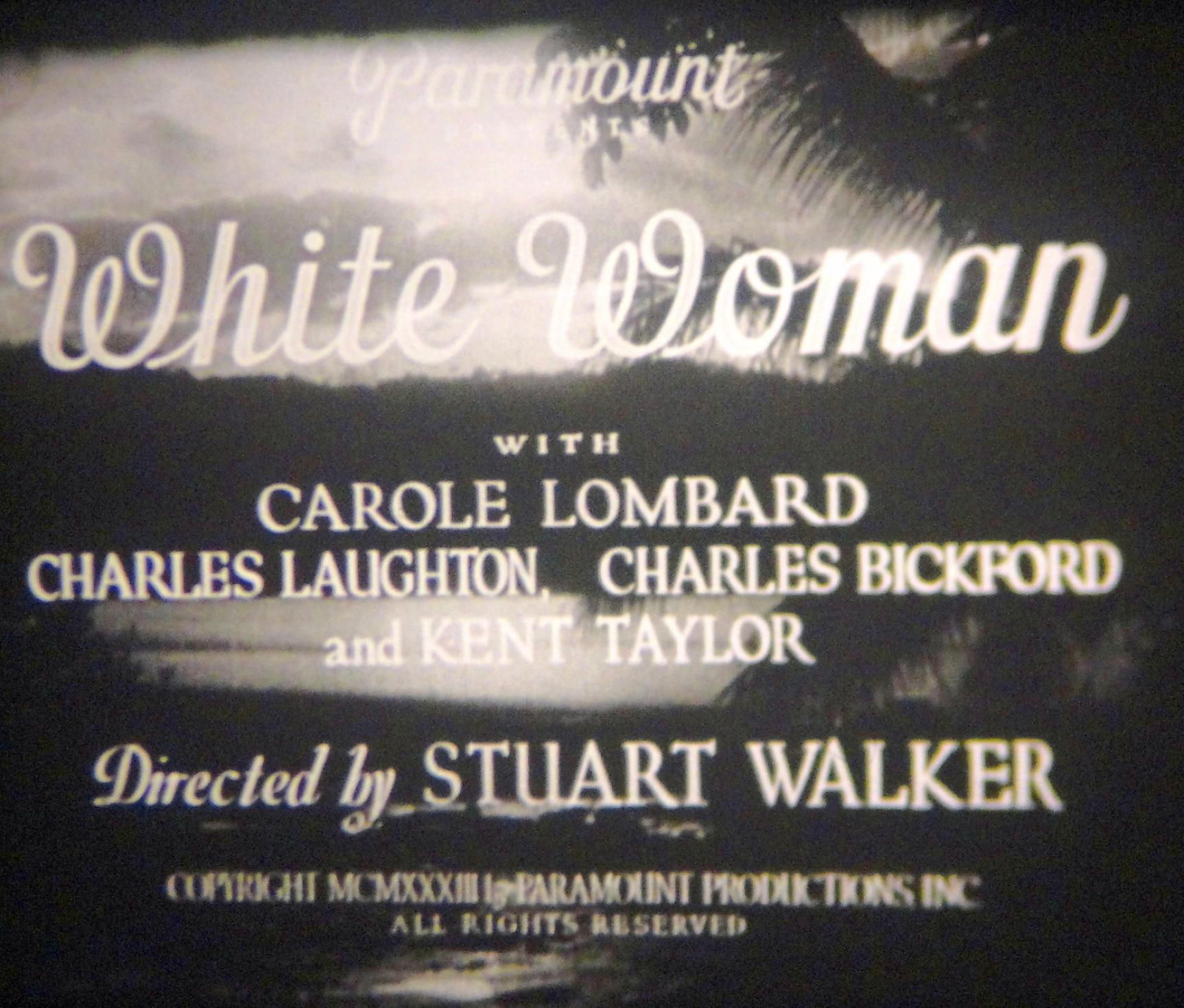 carole lombard white woman 16mm print credits 00a