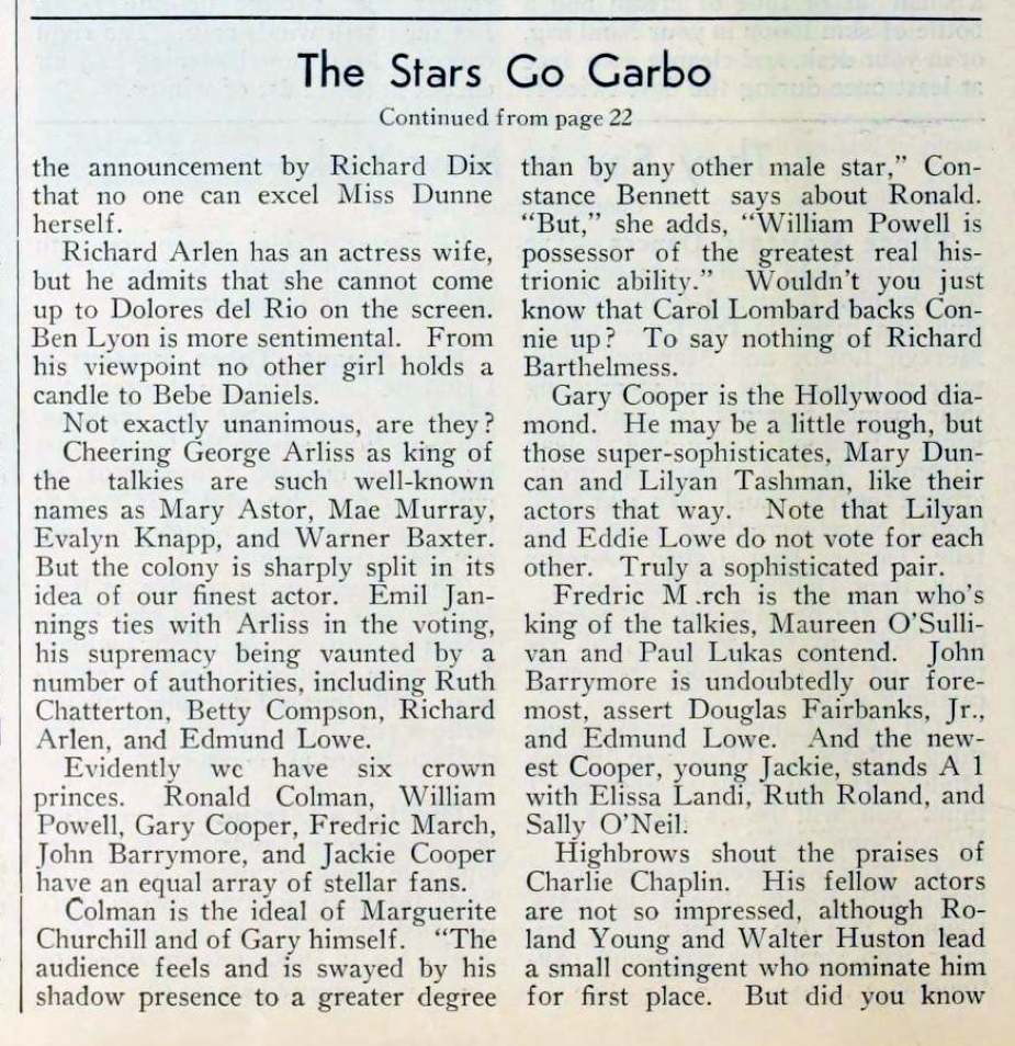 carole lombard picture play march 1932 the stars go garbo 03a