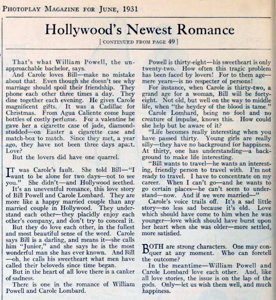 carole lombard photoplay june 1931 hollywood's newest romance 01a