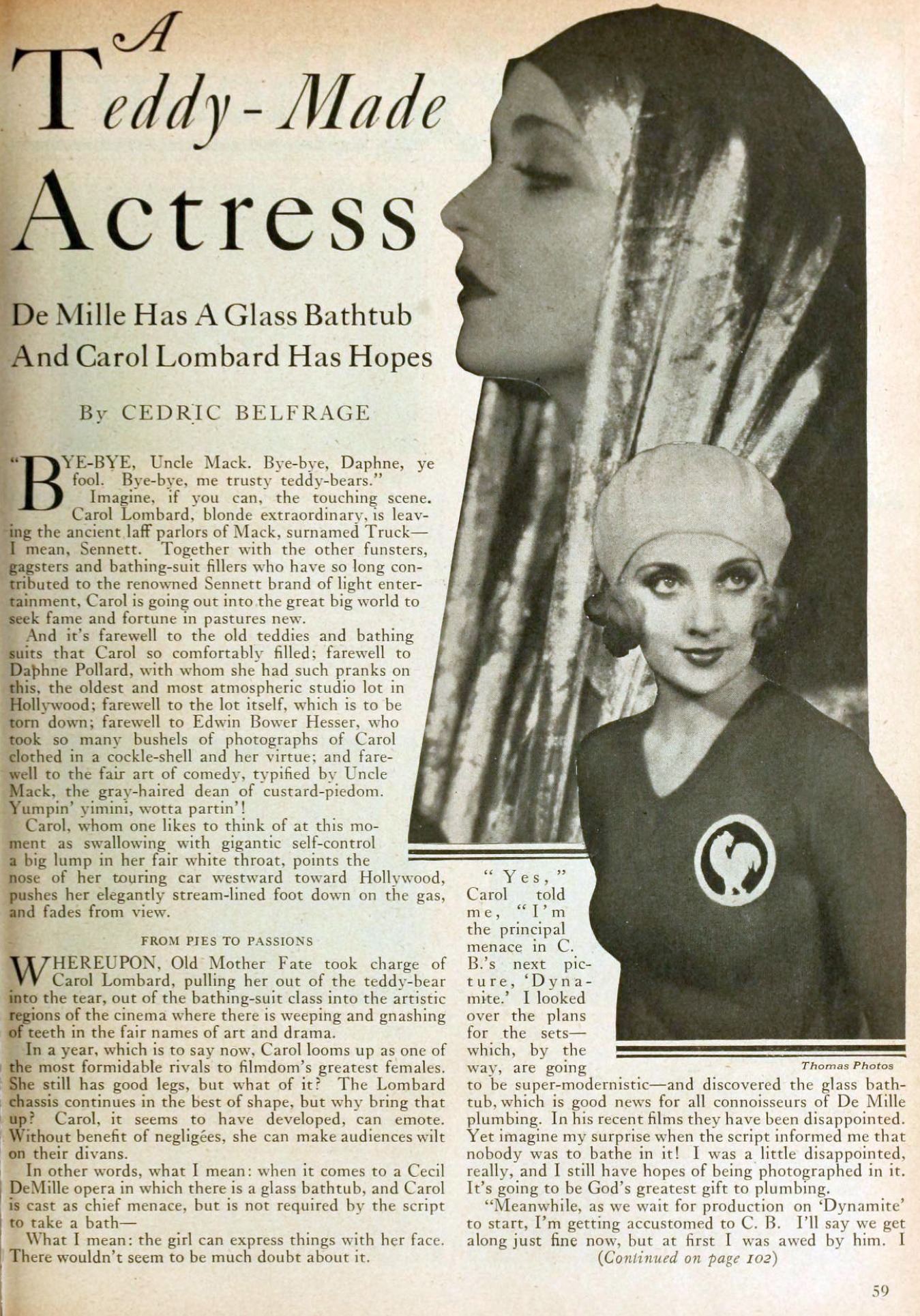 carole lombard motion picture may 1929 a teddy-made actress 01a
