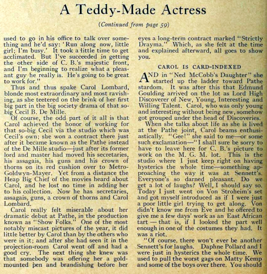 carole lombard motion picture may 1929 a teddy-made actress 02a