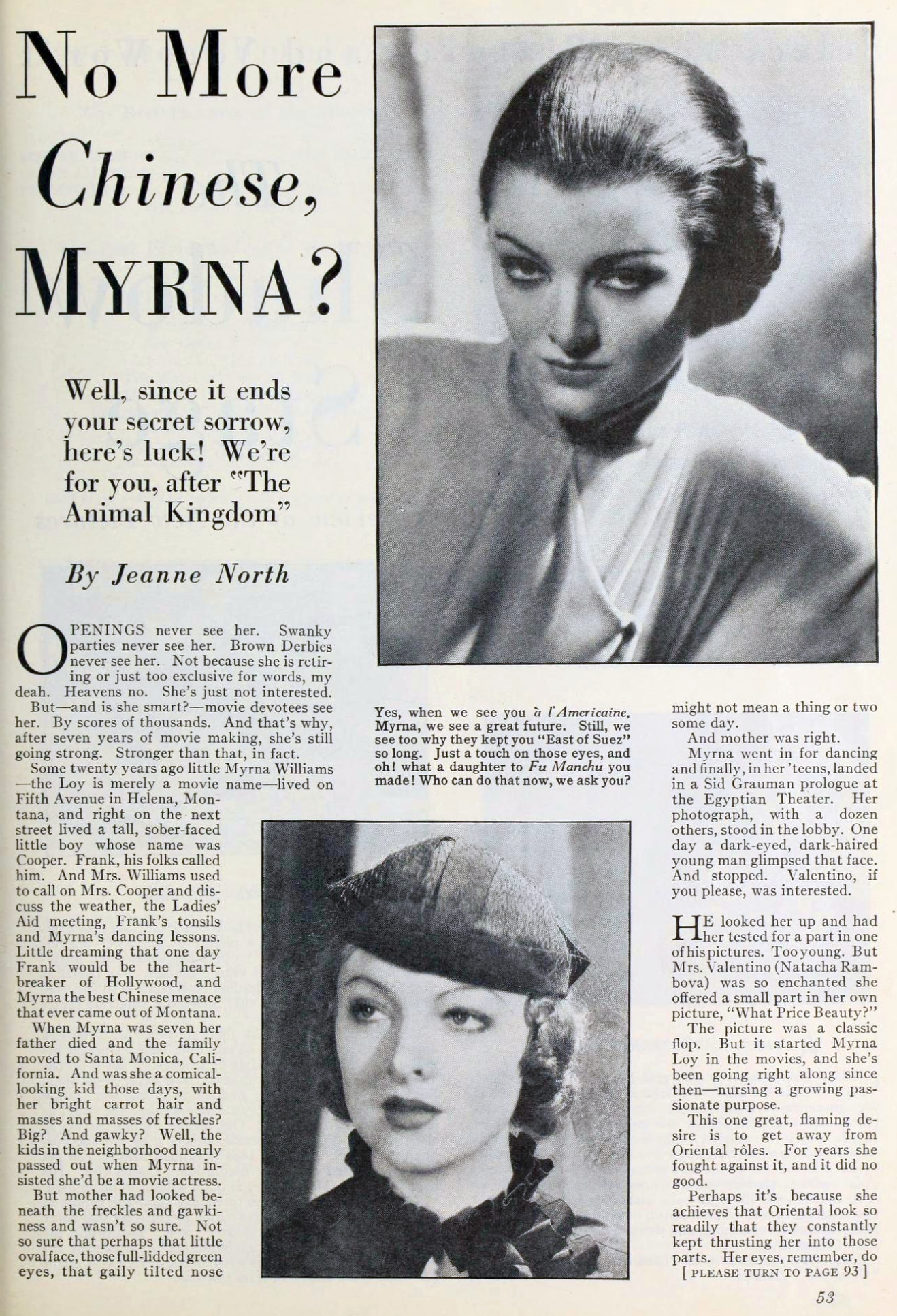 myrna loy photoplay april 1933 no more chinese, myrna 00a