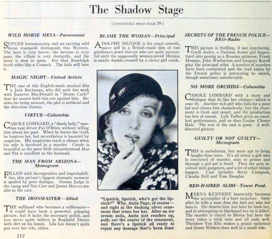 carole lombard photoplay jan 1933a closeup