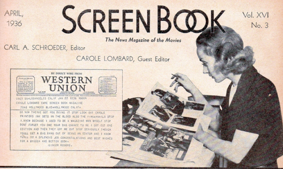 carole lombard screen book april 1936 ab