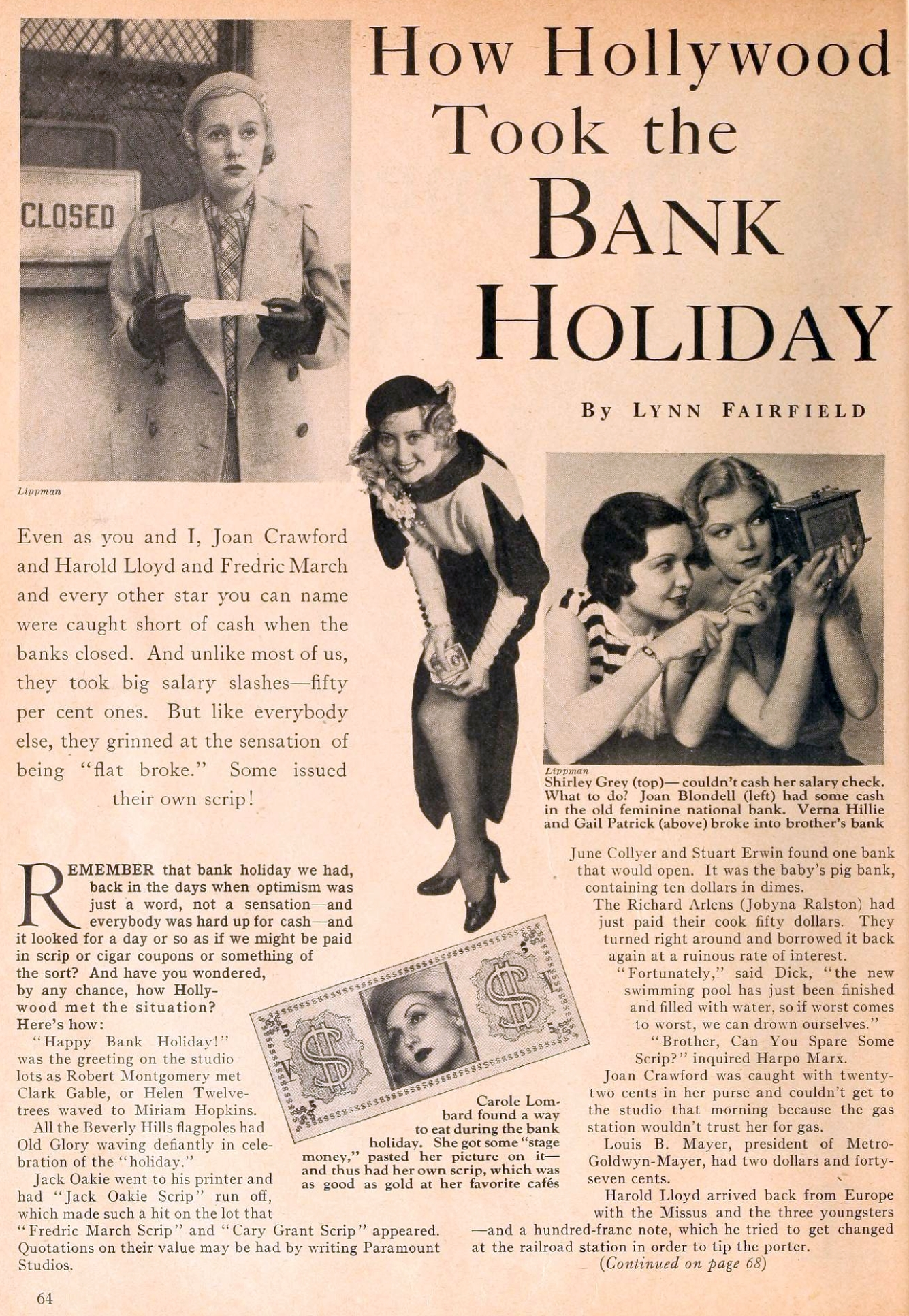 carole lombard motion picture june 1933 bank holiday 00a