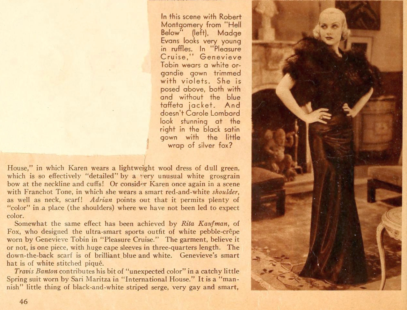 carole lombard motion picture june 1933 fashion tips 02a