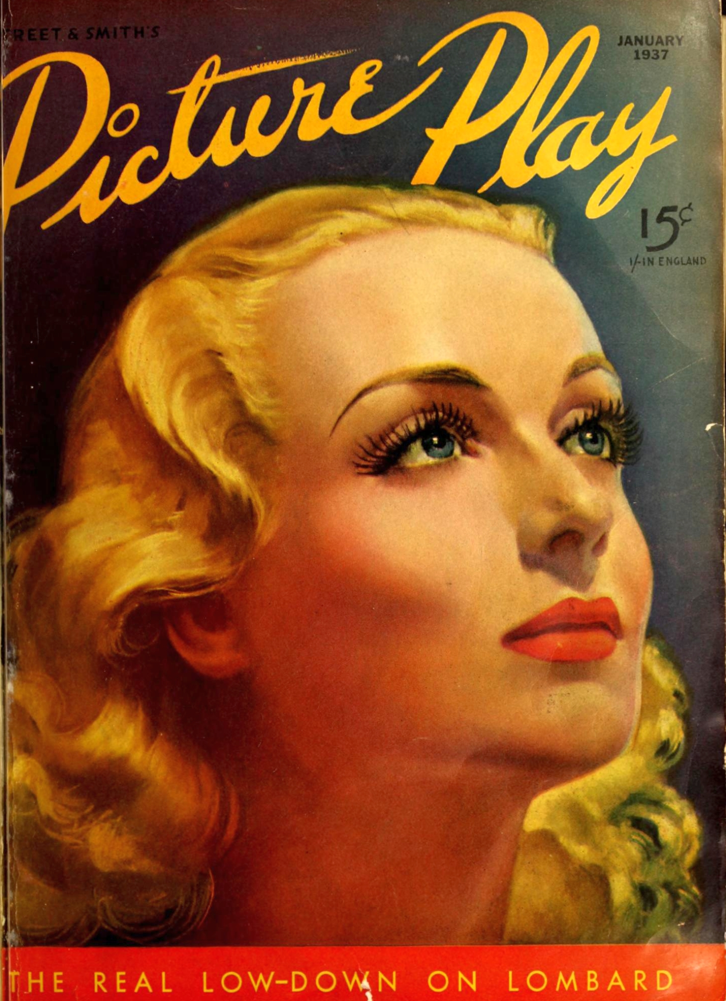 carole lombard picture play january 1937 cover large