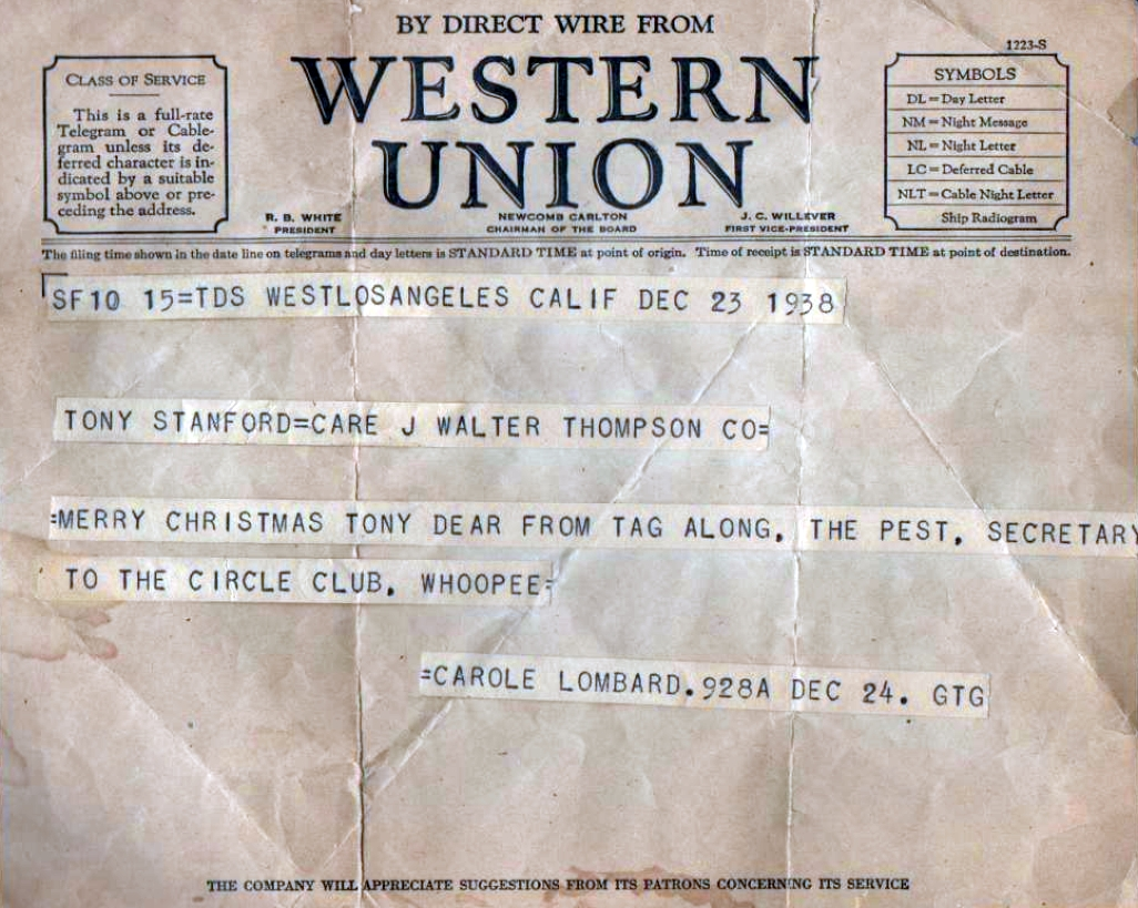 carole lombard 122338a western union telegram